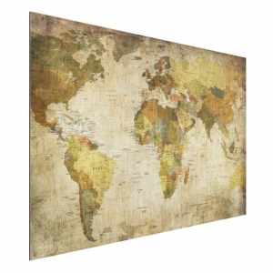 Paveikslas ant aliuminio Map of the world, 40cm x 60cm
